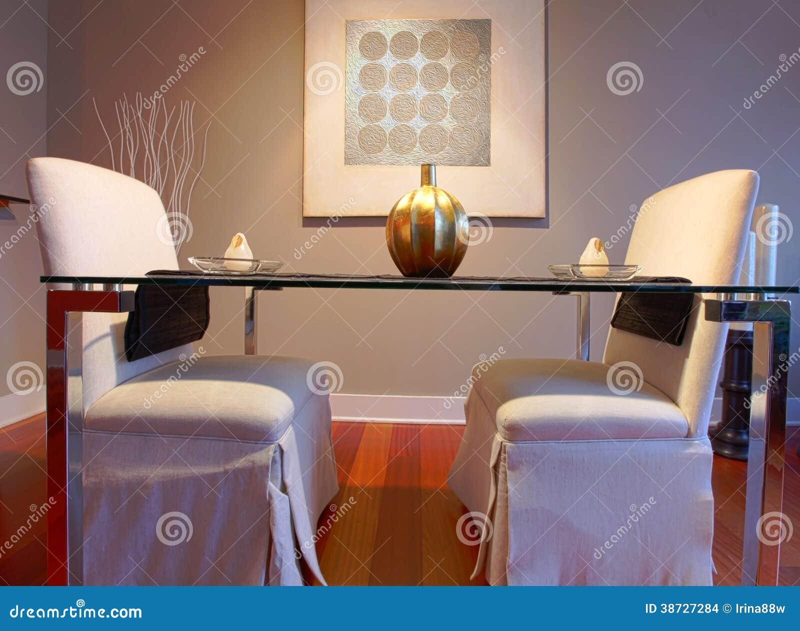 Table De Salle à Manger élégante Mise Dans Un Salon Moderne ...