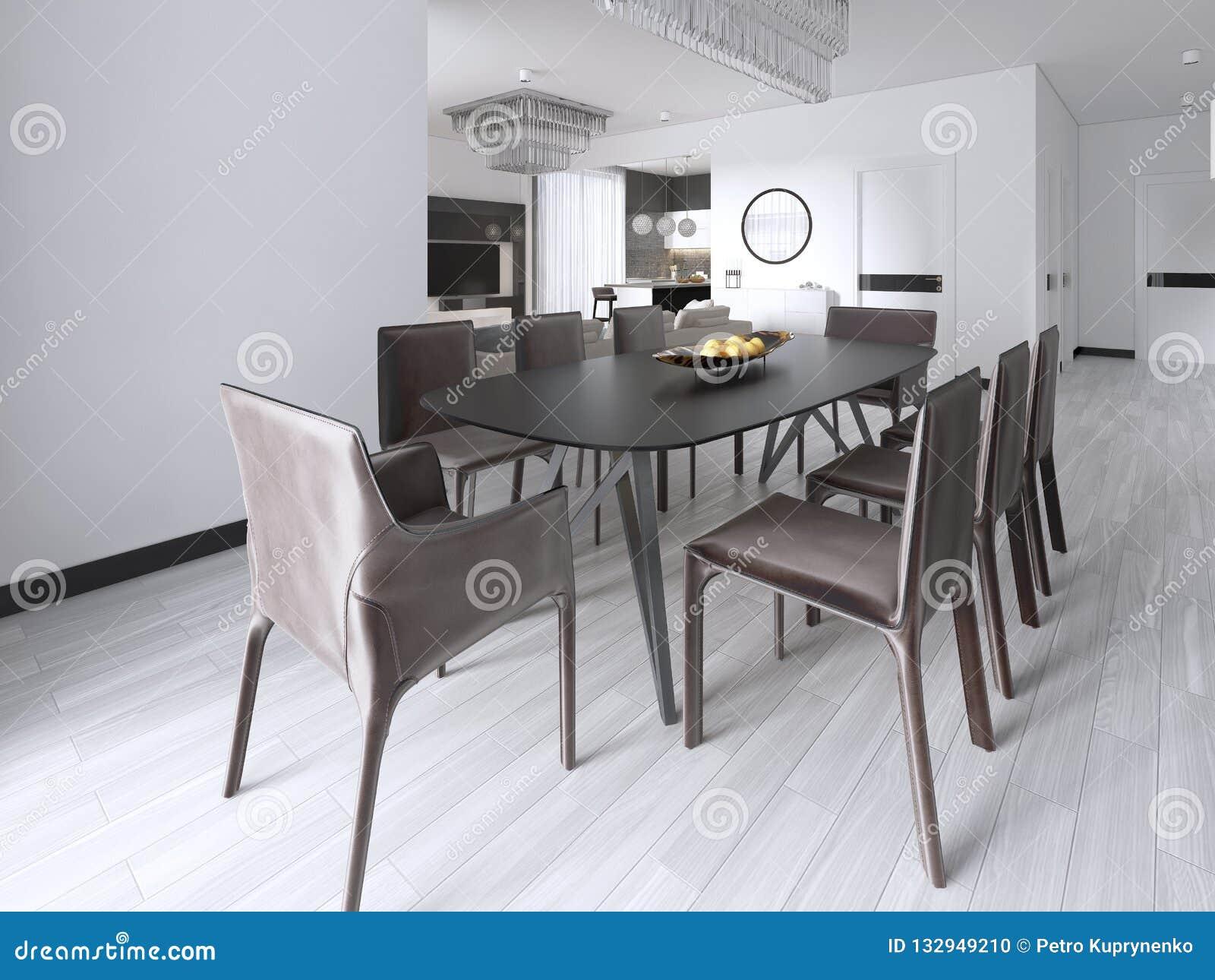 Table De Salle à Manger Dans Un Studio Dans Le Style ...