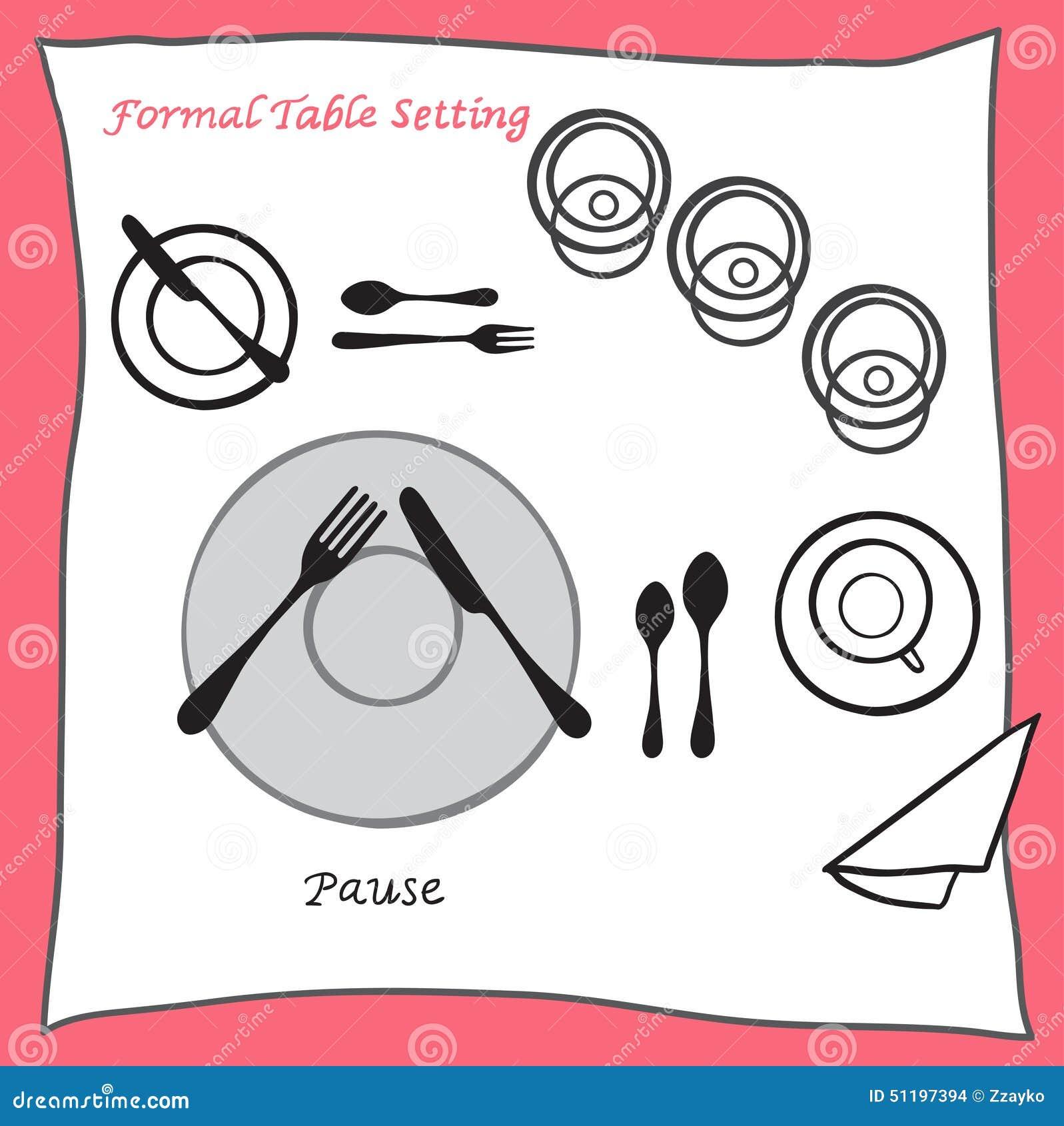 Table de salle manger de pause pla ant la disposition for Couvert table disposition