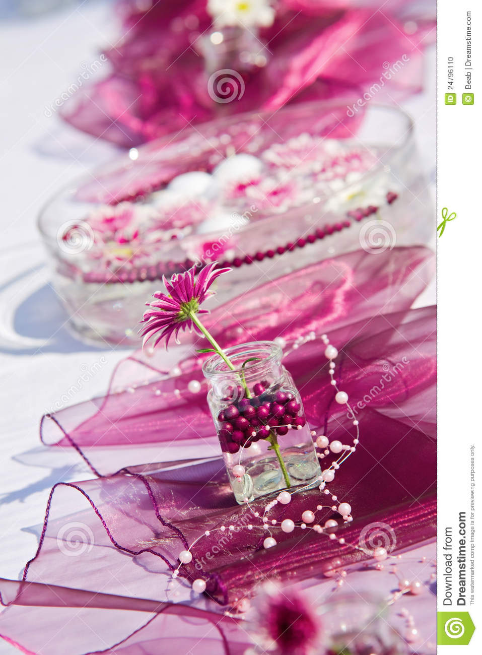 Table Decoration For A Summer Garden Party Stock Photo