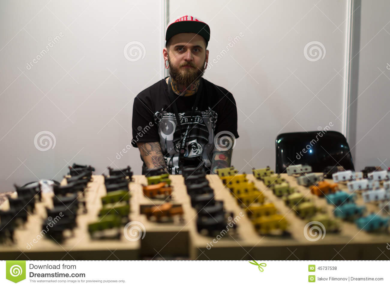 Table With Different Tattoo Machines For Sale Editorial Stock Photo ...