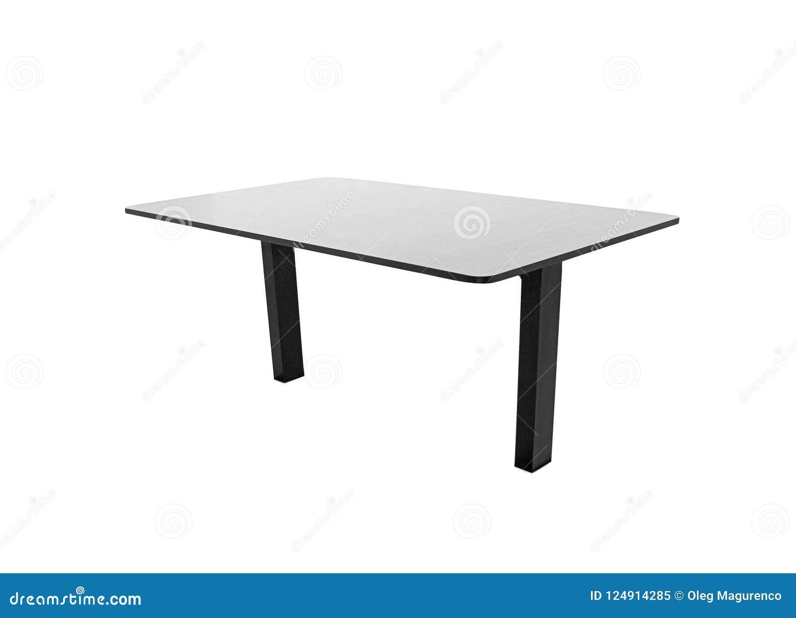 Table en bois d isolement sur le blanc
