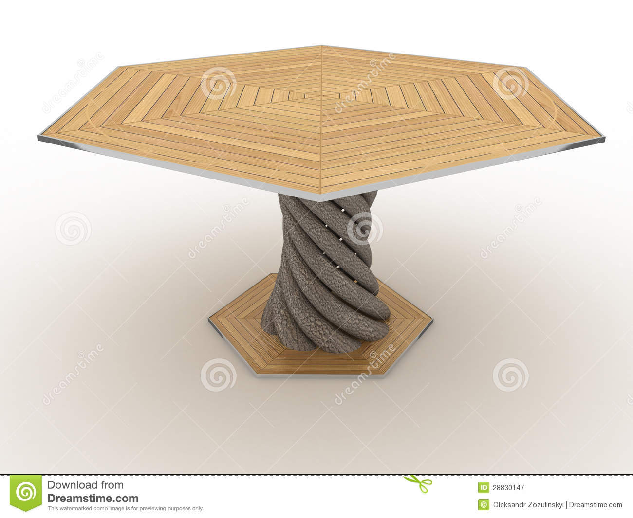 Table En Bois Hexagonale 3