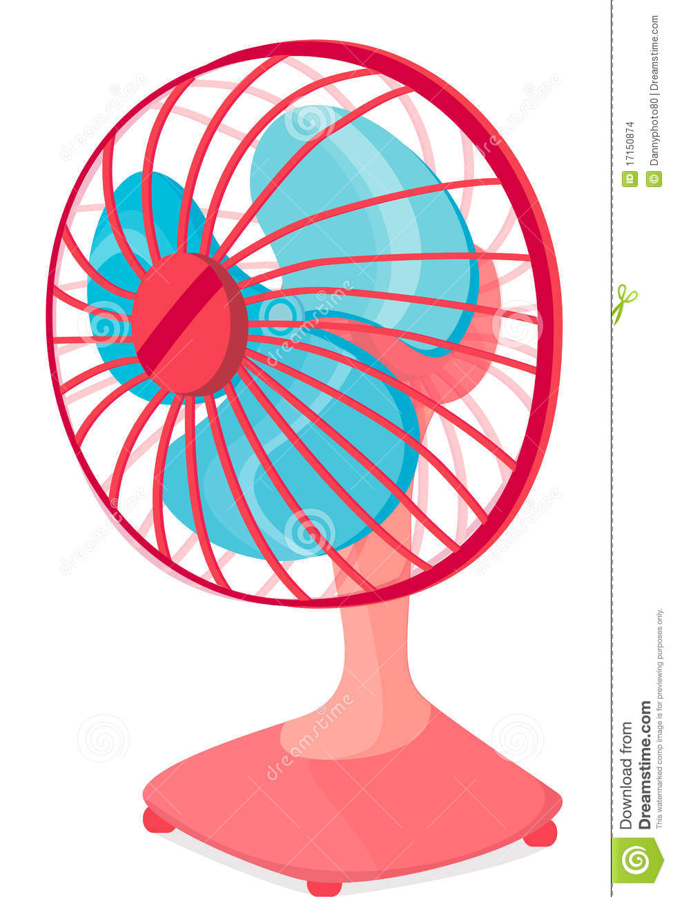 Table fan stock vector. Illustration of sketch, cool ...