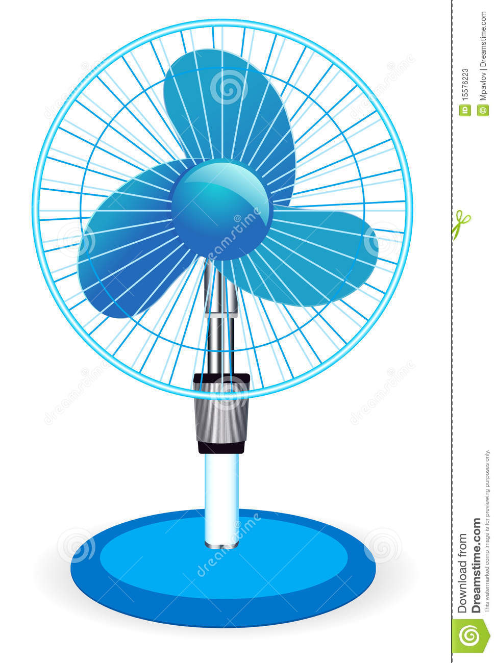 Table Fan Illustration Stock Vector Illustration Of