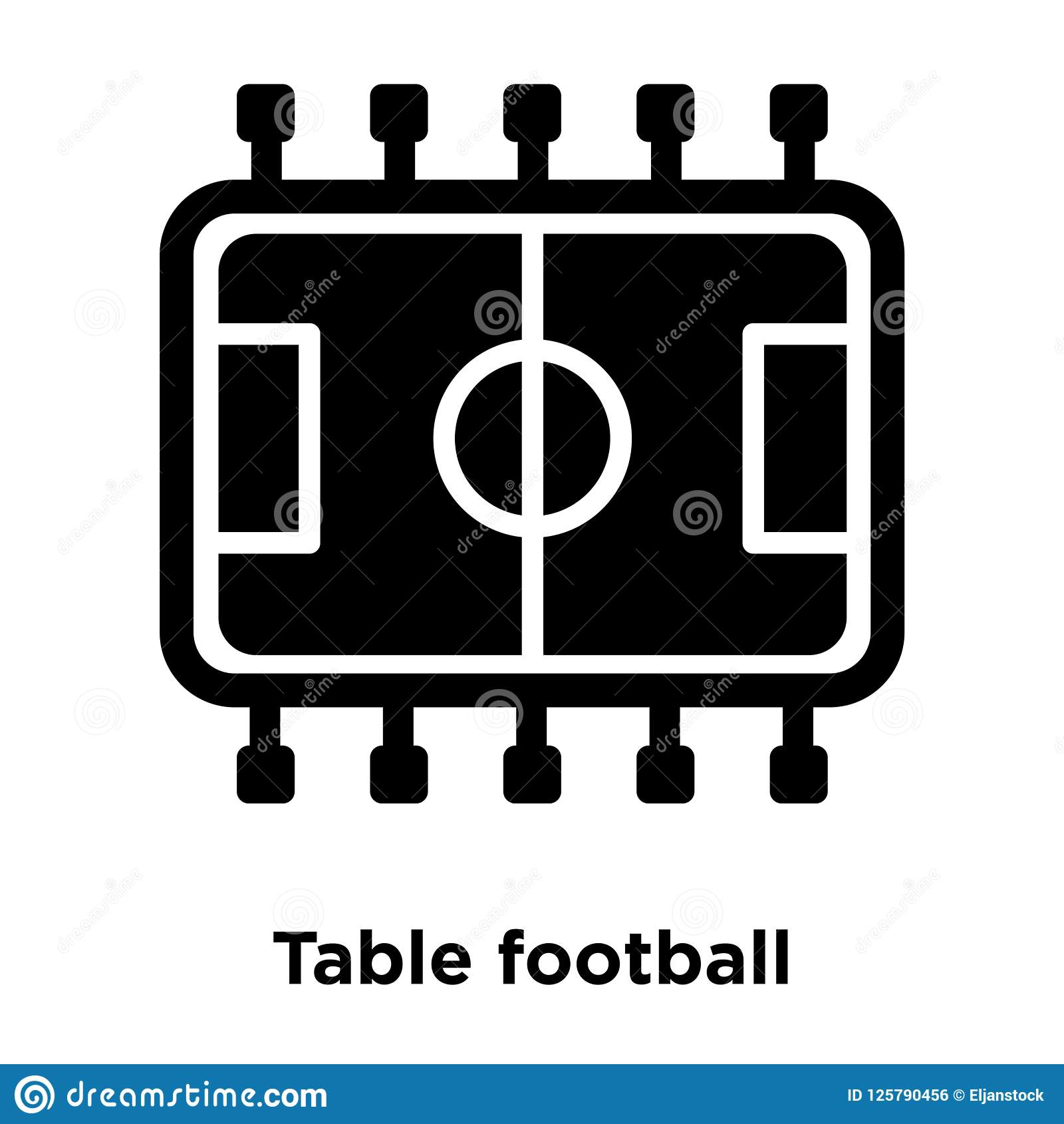 Table Football Icon Vector Isolated On White Background Logo Co