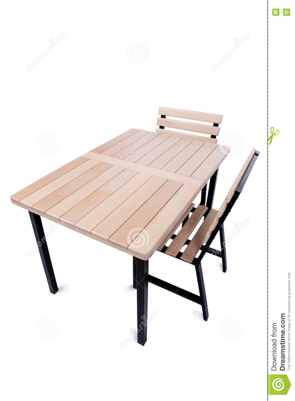 The table furniture isolated on the white