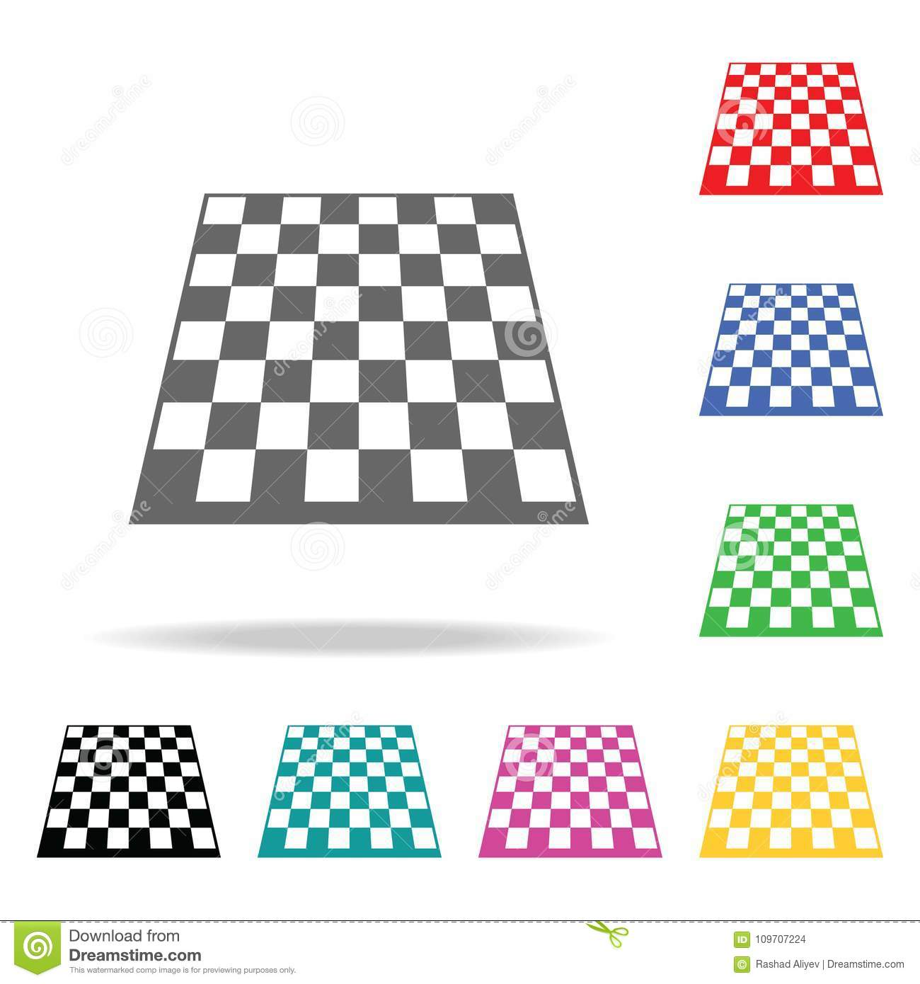 Table Game Board Chess  Element Of Sport Multi Colored Icon For