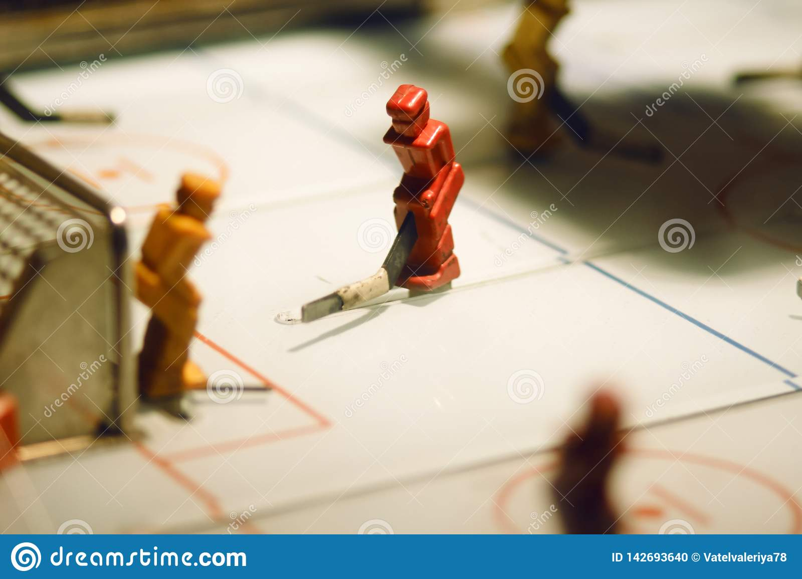 Table game with figures of hockey players