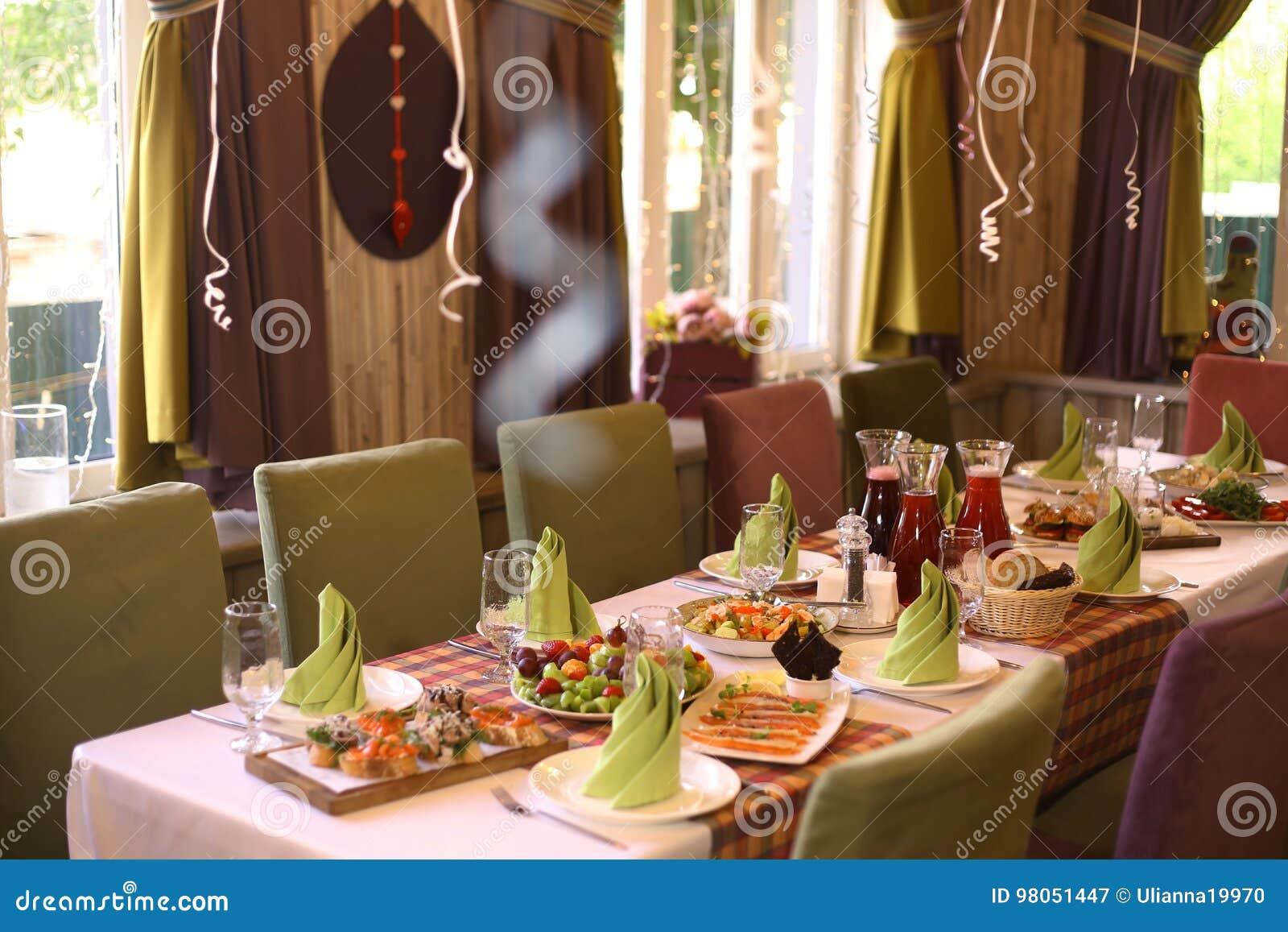 Table in kids restaurant