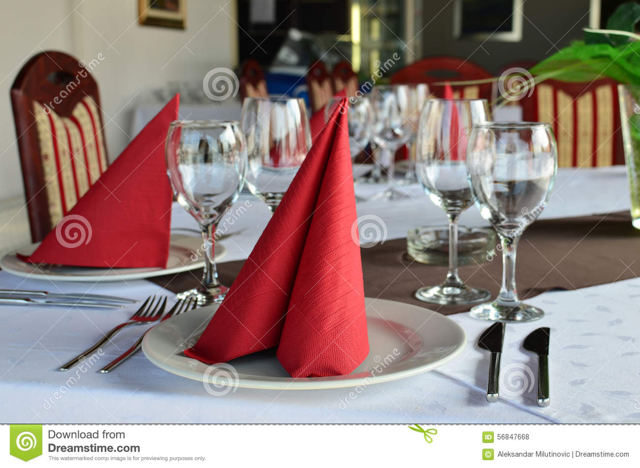 Table Laid And Decorated Stock Photo Image Of Banquet