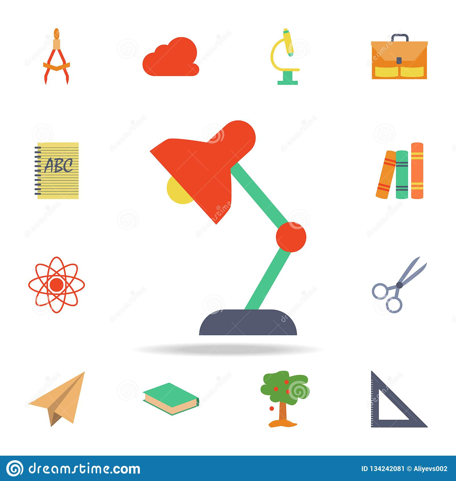 Delightful Table Lamp Colored Icon. Detailed Set Of Colored Education Icons. Premium  Graphic Design. One Of The Collection Icons For Websites, Web Design, ...
