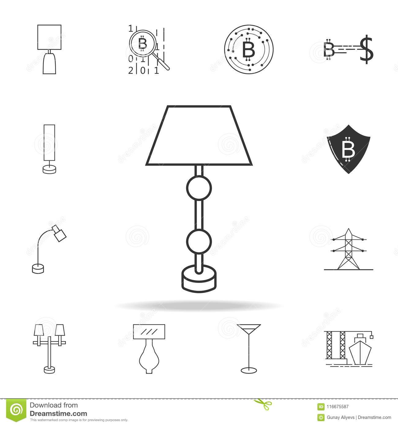 Table Lamp Icon. Detailed Set Of Web Icons And Signs. Premium Graphic  Design. One Of The Collection Icons For Websites, Web Design, Mobile App On  White ...