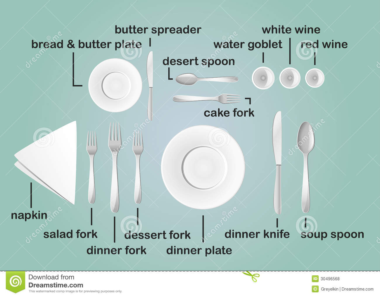 Table Layout Royalty Free Stock Photos - Image: 30496568