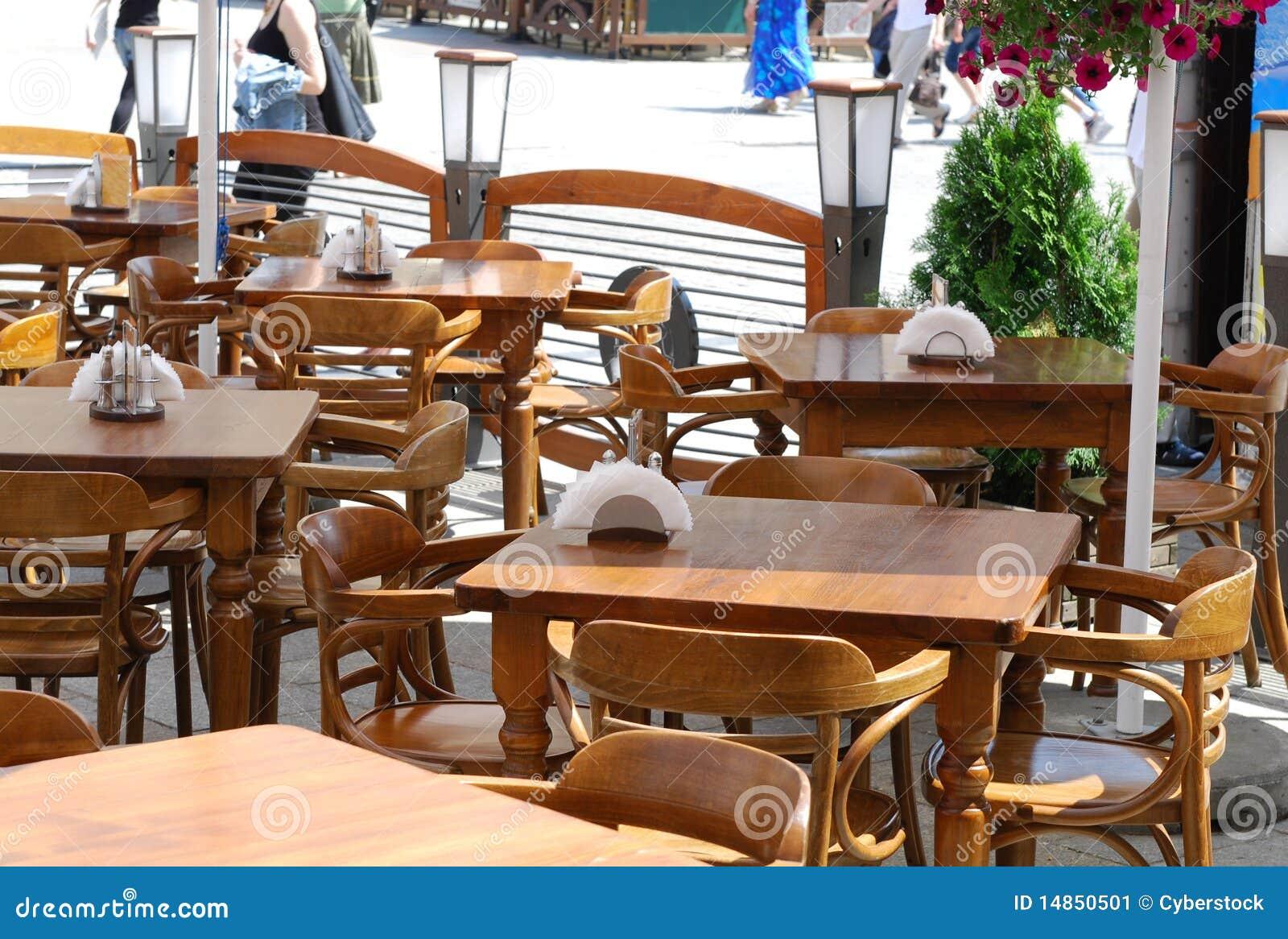 Table in little restaurant