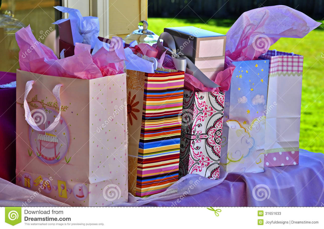 60 Table Seats How Many Table Of Many Presents Stock Image Image Of Tissue Bags