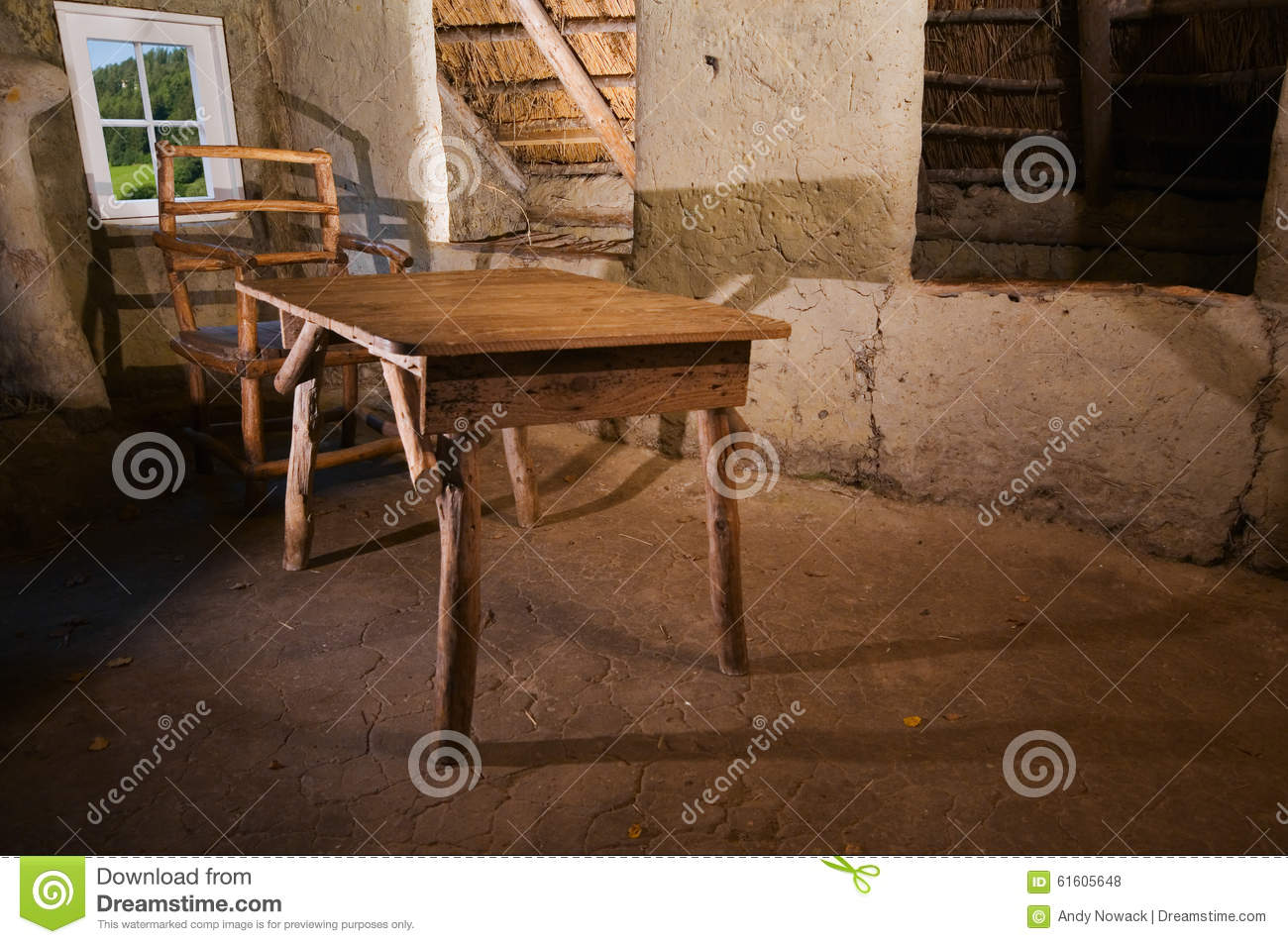 Table in the mud hut horizontal stock photo image 61605648 for Table th horizontal