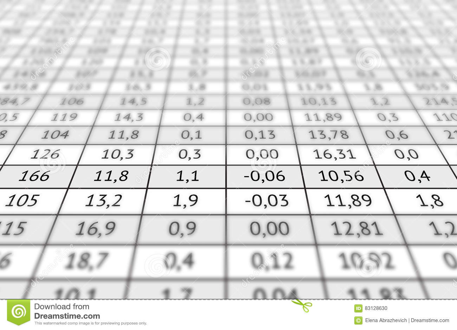Wondrous Table With Numerical Data Stock Photo Image Of Economics Download Free Architecture Designs Scobabritishbridgeorg