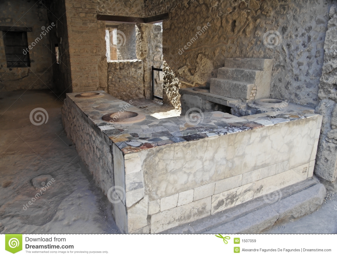 Table And Ovens Pompeii Stock Image Image Of Oven Wall