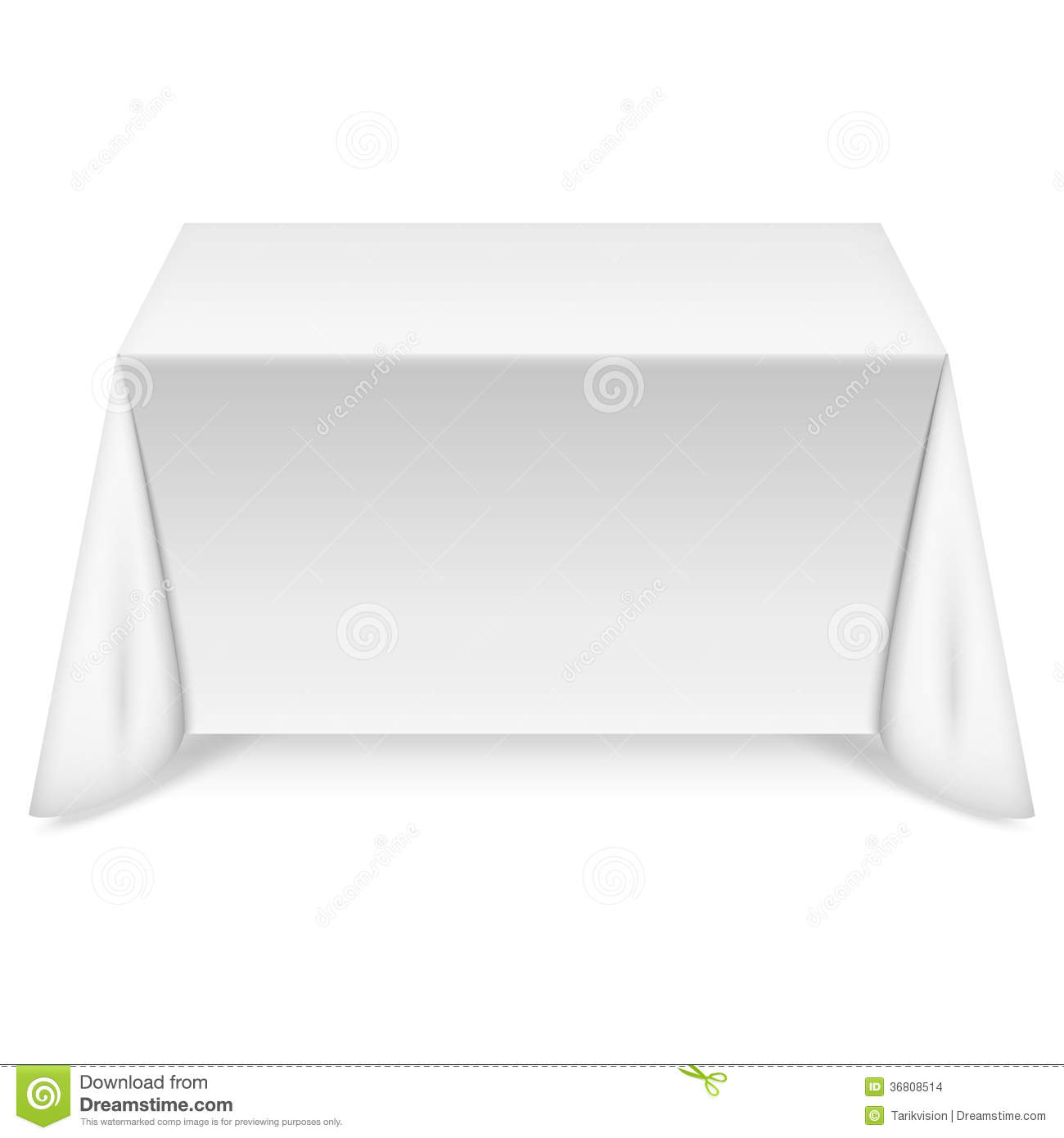 table rectangulaire avec la nappe blanche images stock image 36808514. Black Bedroom Furniture Sets. Home Design Ideas
