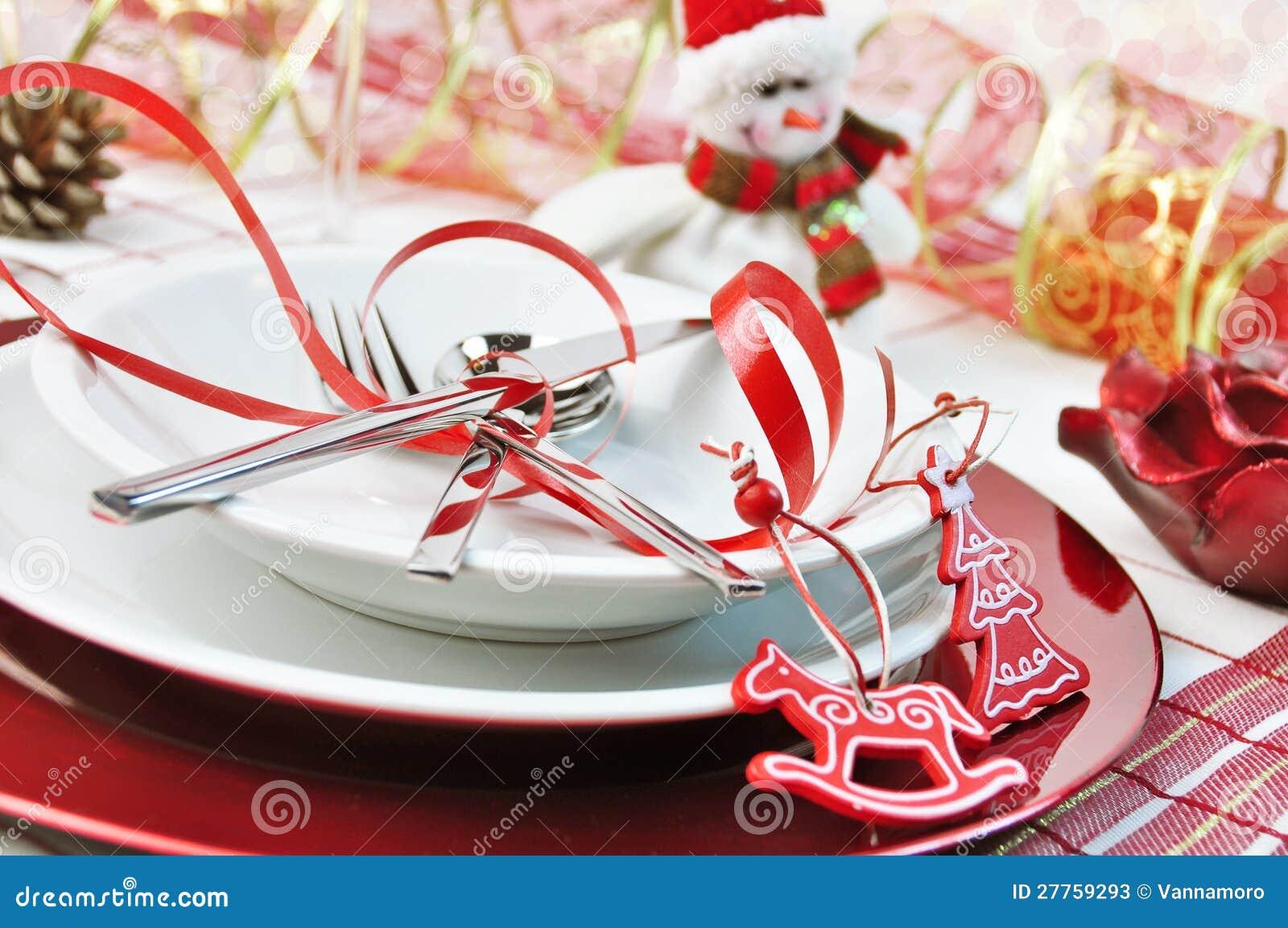 Table rouge de Noël