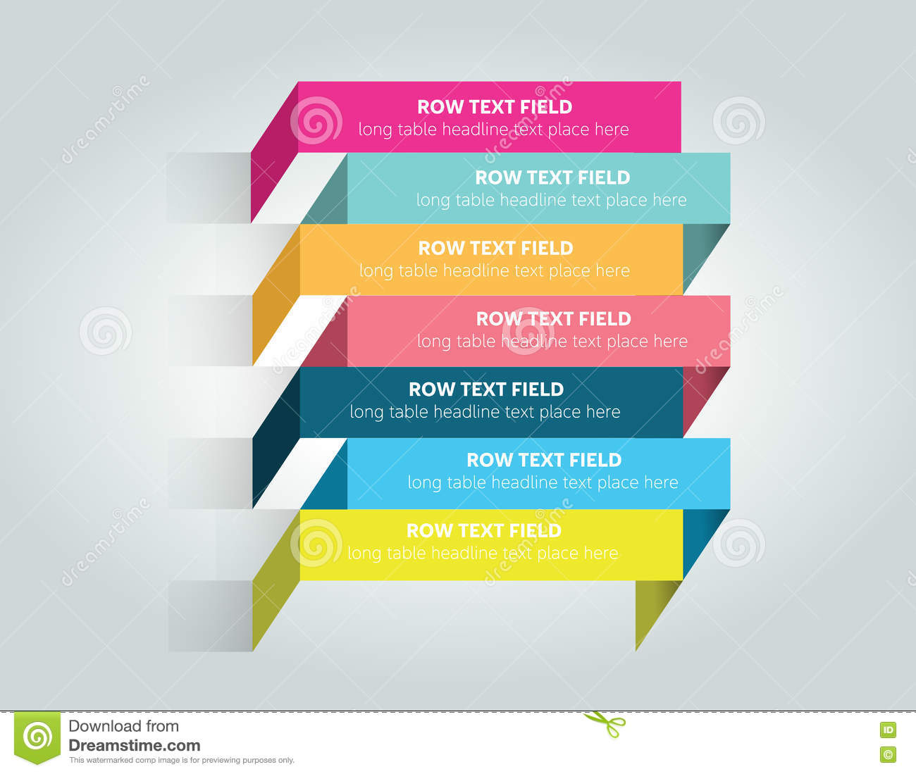 table schedule design template with 7 row stock illustration