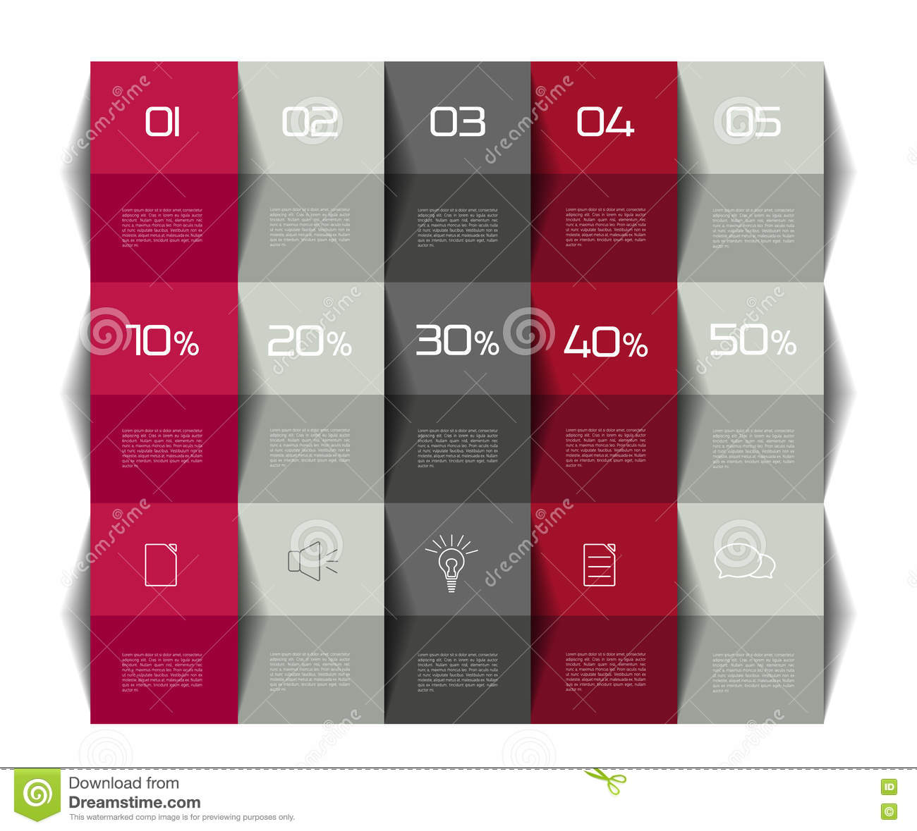 Table Schedule Template 3d Business Design Stock