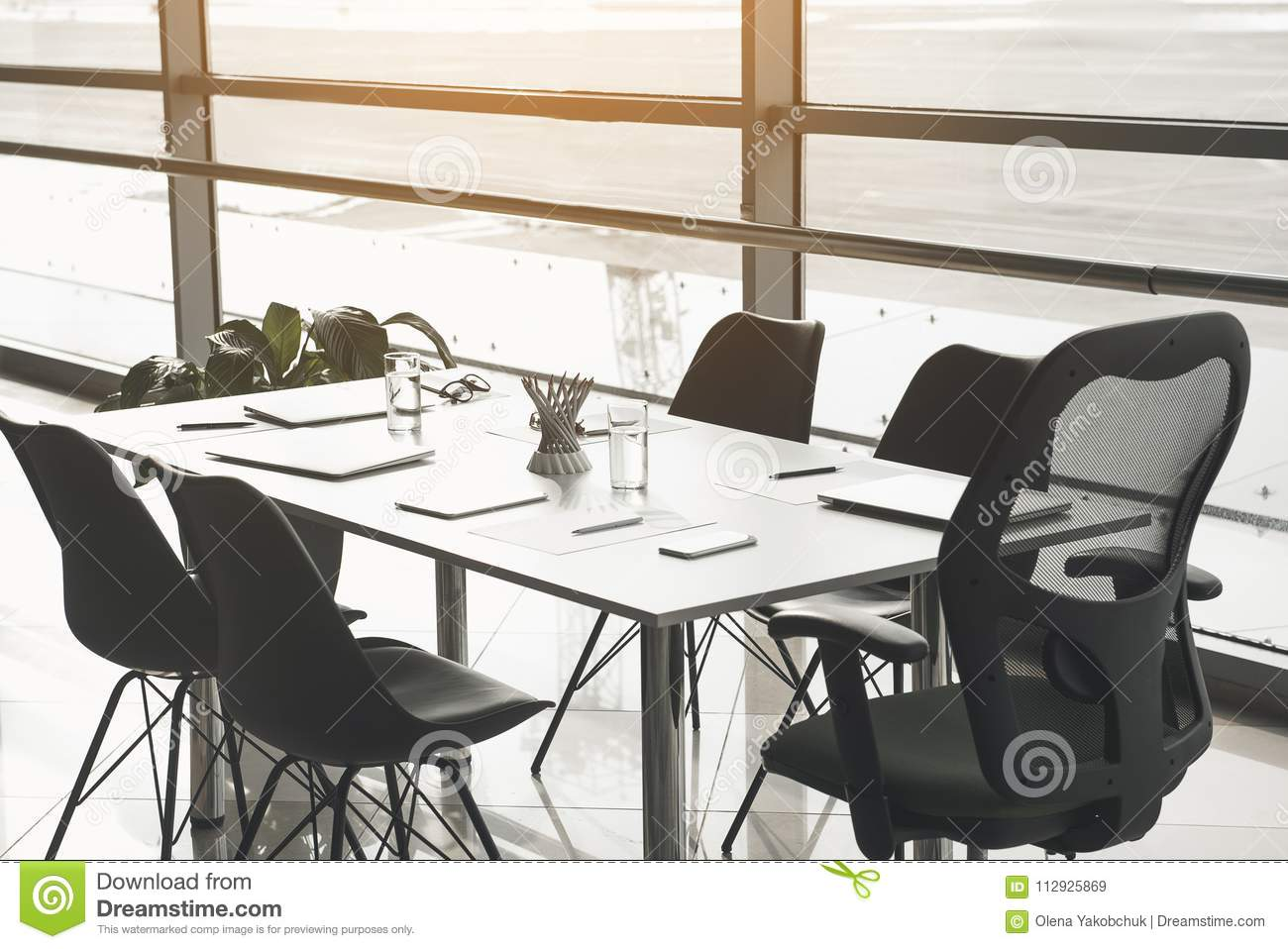 Sensational Desk And Chairs In Business Center Stock Image Image Of Pdpeps Interior Chair Design Pdpepsorg