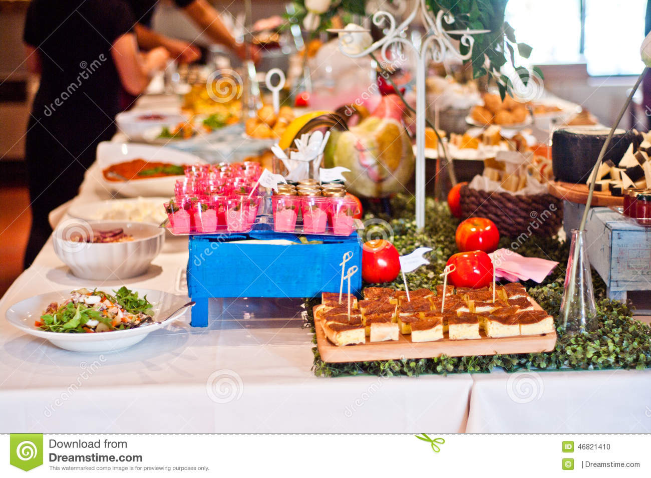 Table set for buffet stock photography for Ensemble table buffet