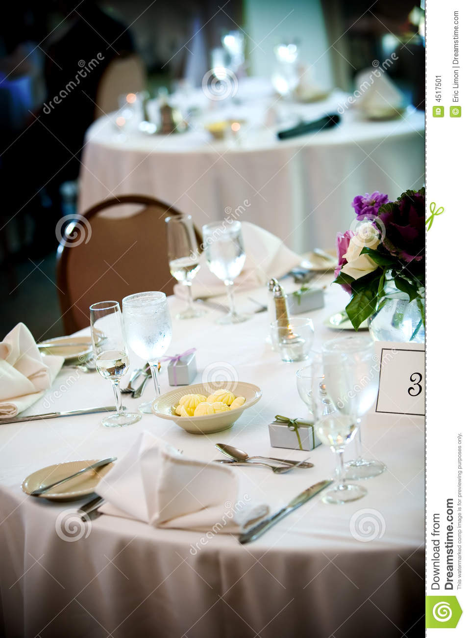 Table set for fine dining stock image image 4517501 for Fine dining table setting