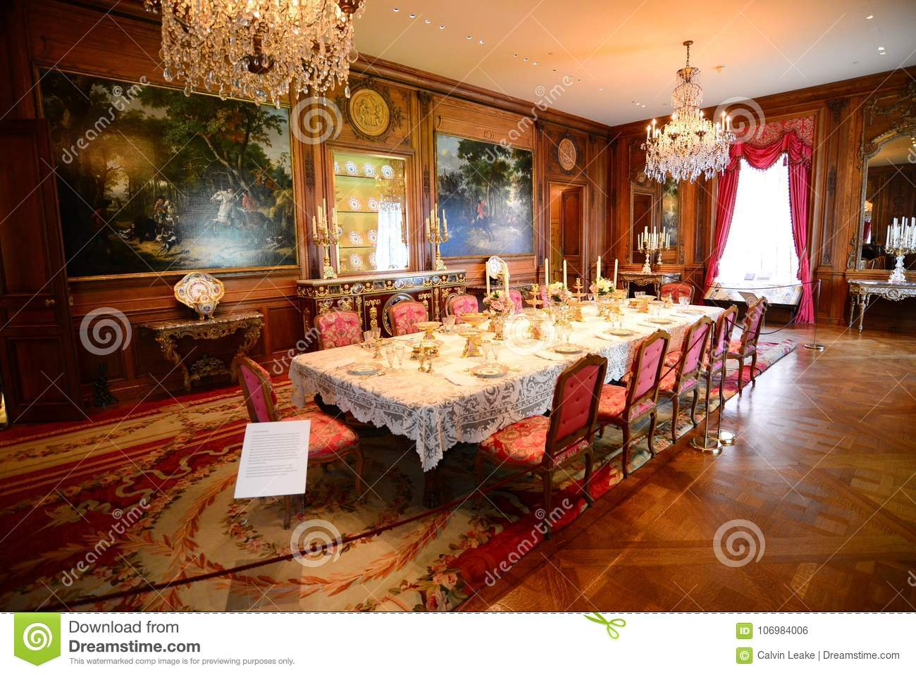 Table Set For Full Course Dinner At Hillwood Estate, Museum And ...