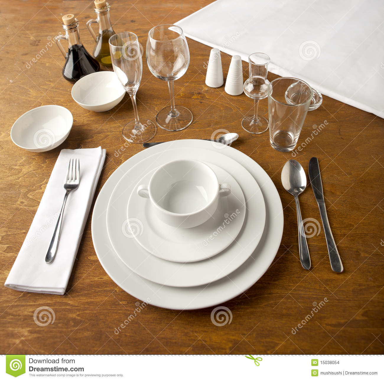 table set up stock images image 15038054