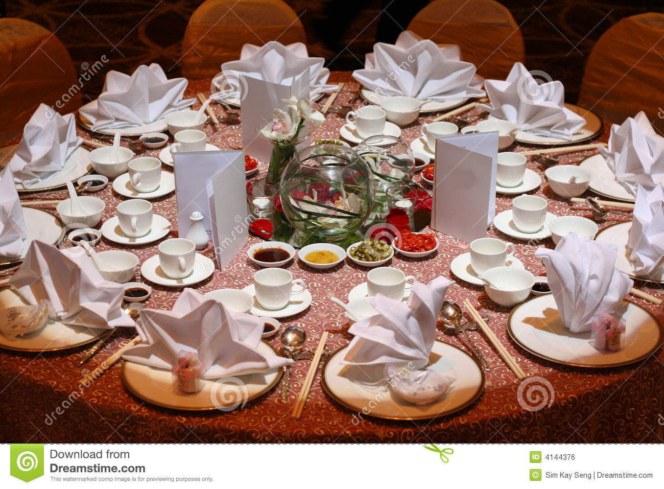 Table Set Up Royalty Free Stock