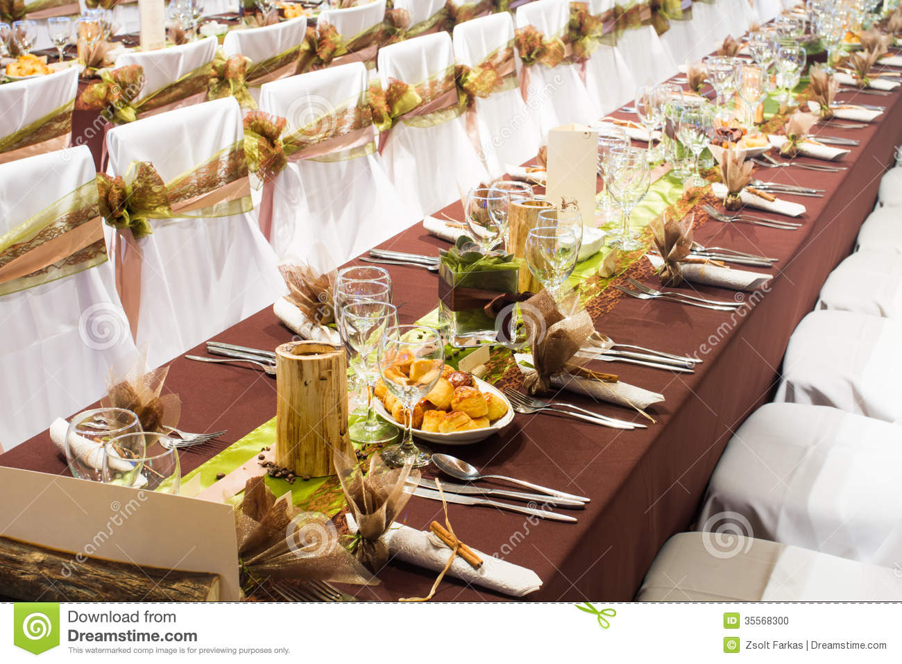 table set for a wedding dinner stock photo image of interior