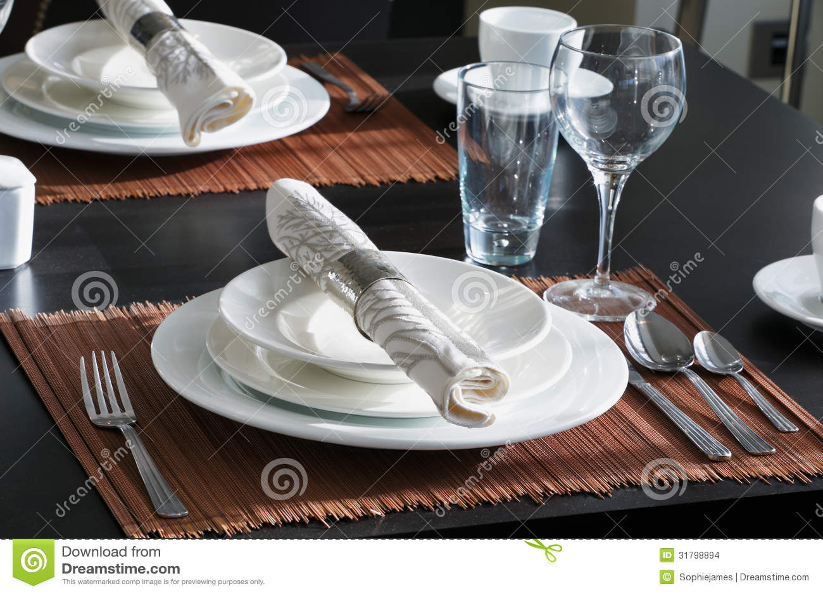 Western Table Setting wwwimgkidcom The Image Kid Has It : table set western style dinner white crockery contrasts wonderfully against dark wooden 31798894 from imgkid.com size 1300 x 956 jpeg 169kB