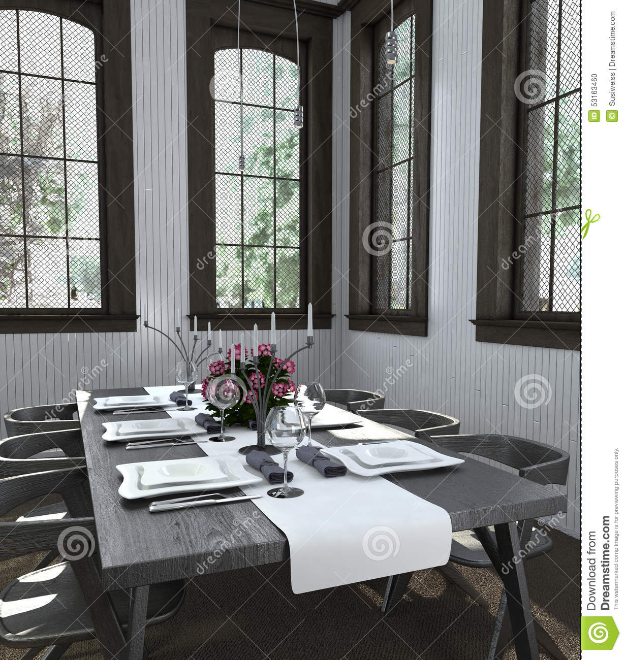 Dining Modern Table Setting