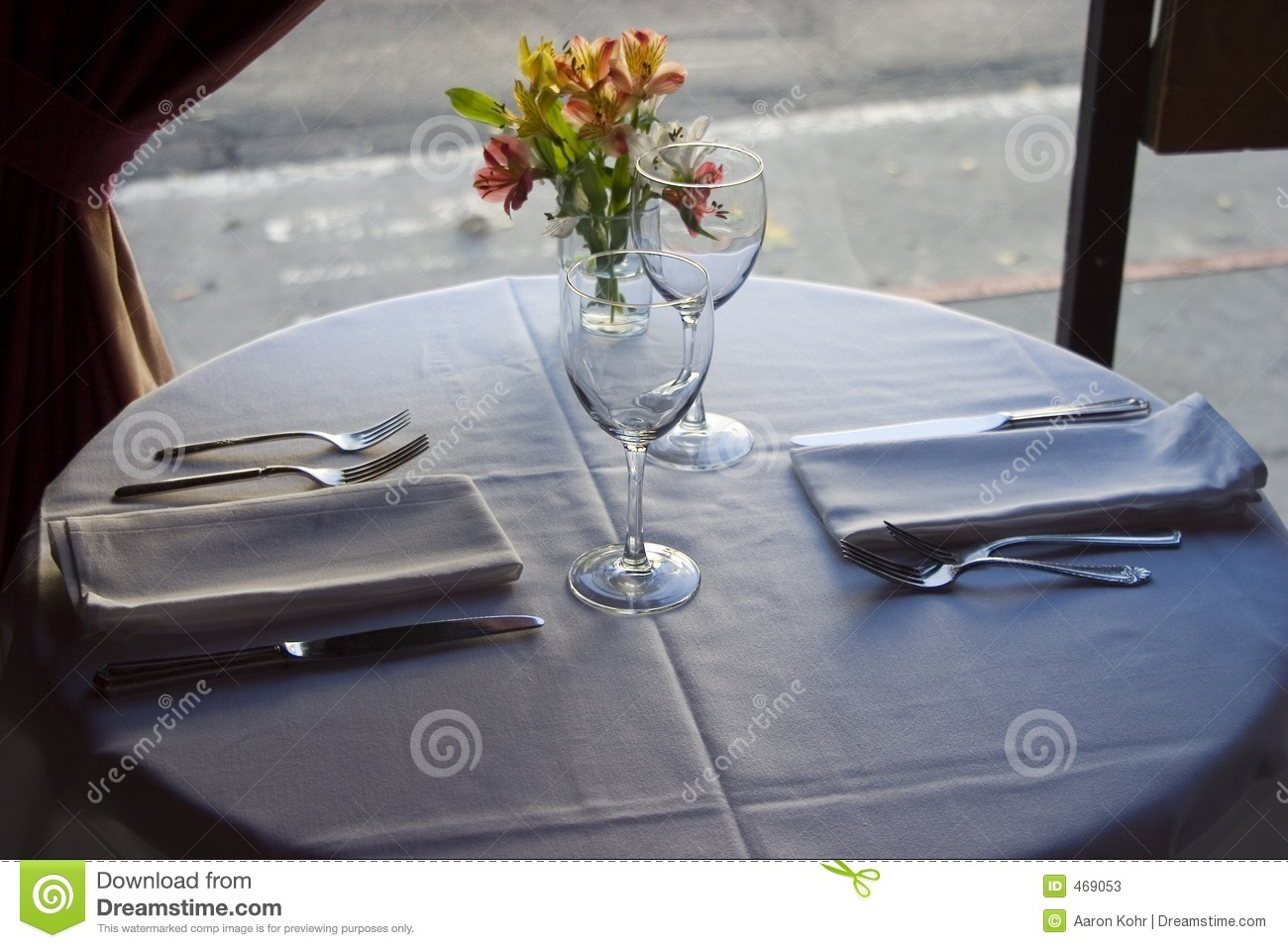 Download Table Setting 4 stock image. Image of reception, wine, cloth - 469053