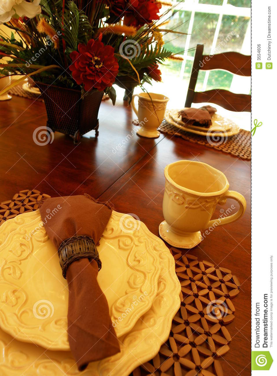 Table Setting For Breakfast Table Setting For Breakfast Royalty Free Stock Image Image 3554606
