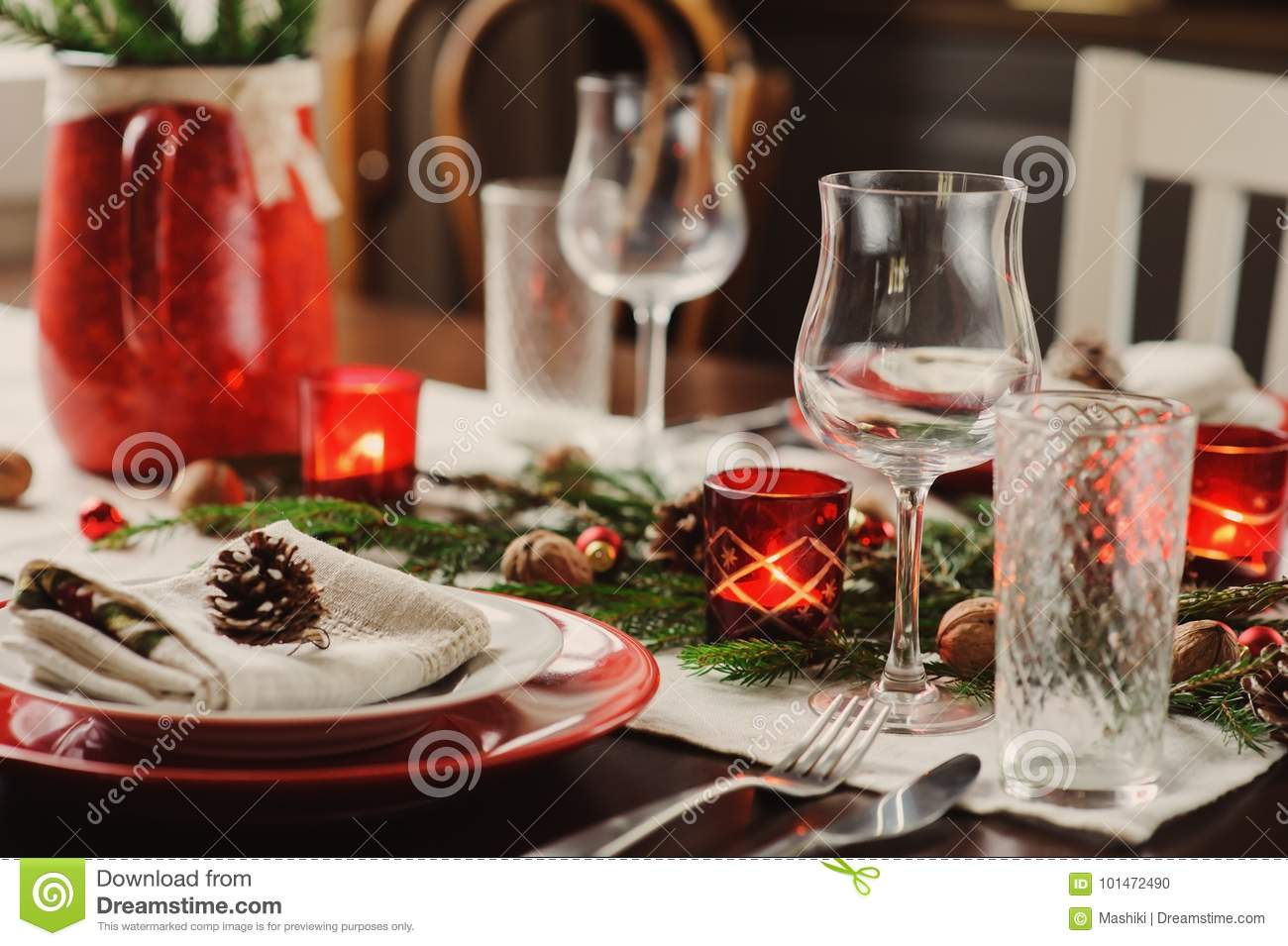 Festive table for the New Year of 2019 Pigs 57