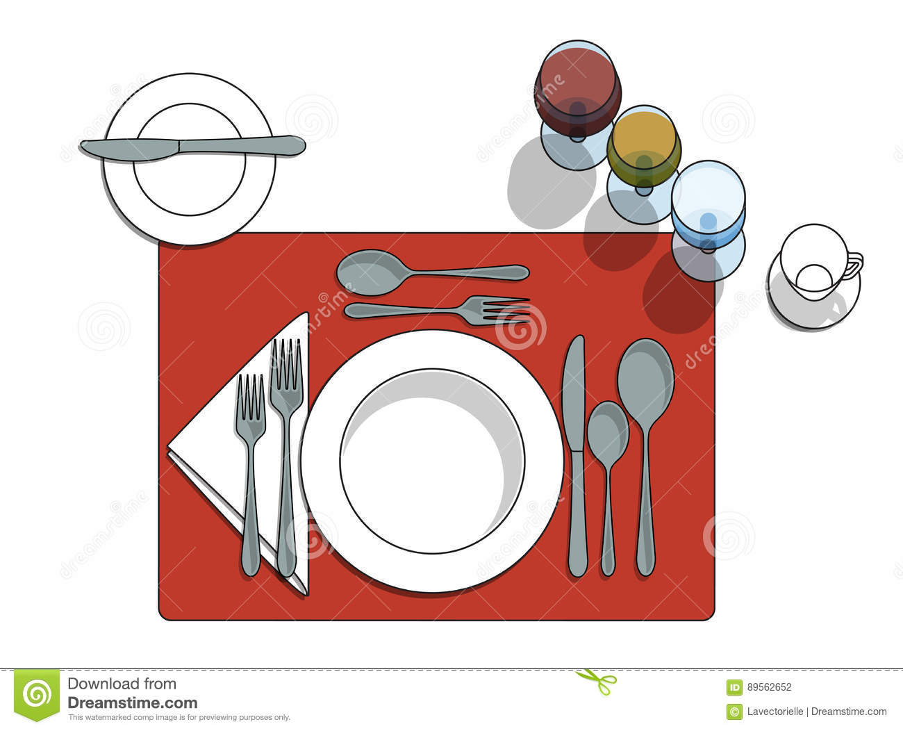 Table Setting Stock Vector  Illustration Of Restaurant