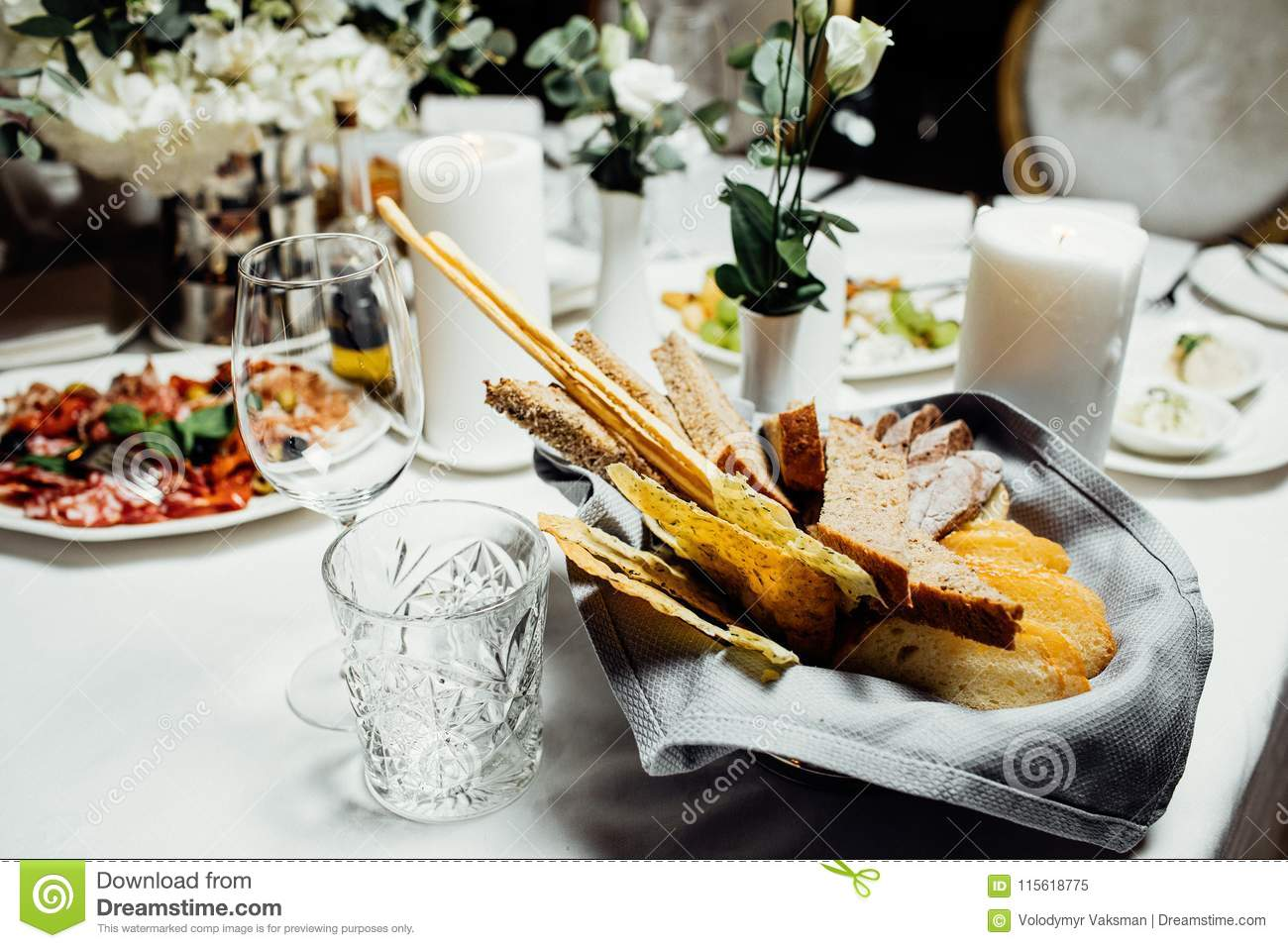 Table Decoration For Meal Time Stock Image Image Of Bouquet
