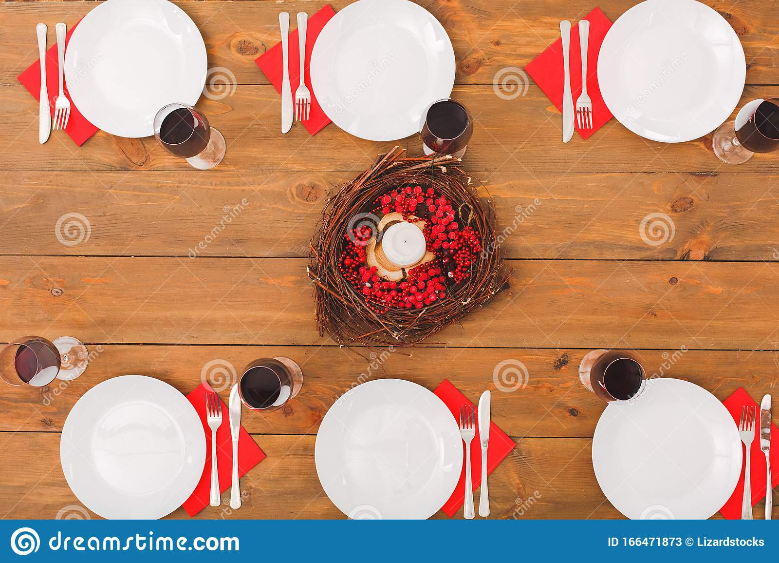 Table Setting For Family Dinner At Christmas Eve Stock Image - Image of christmastime, design ...