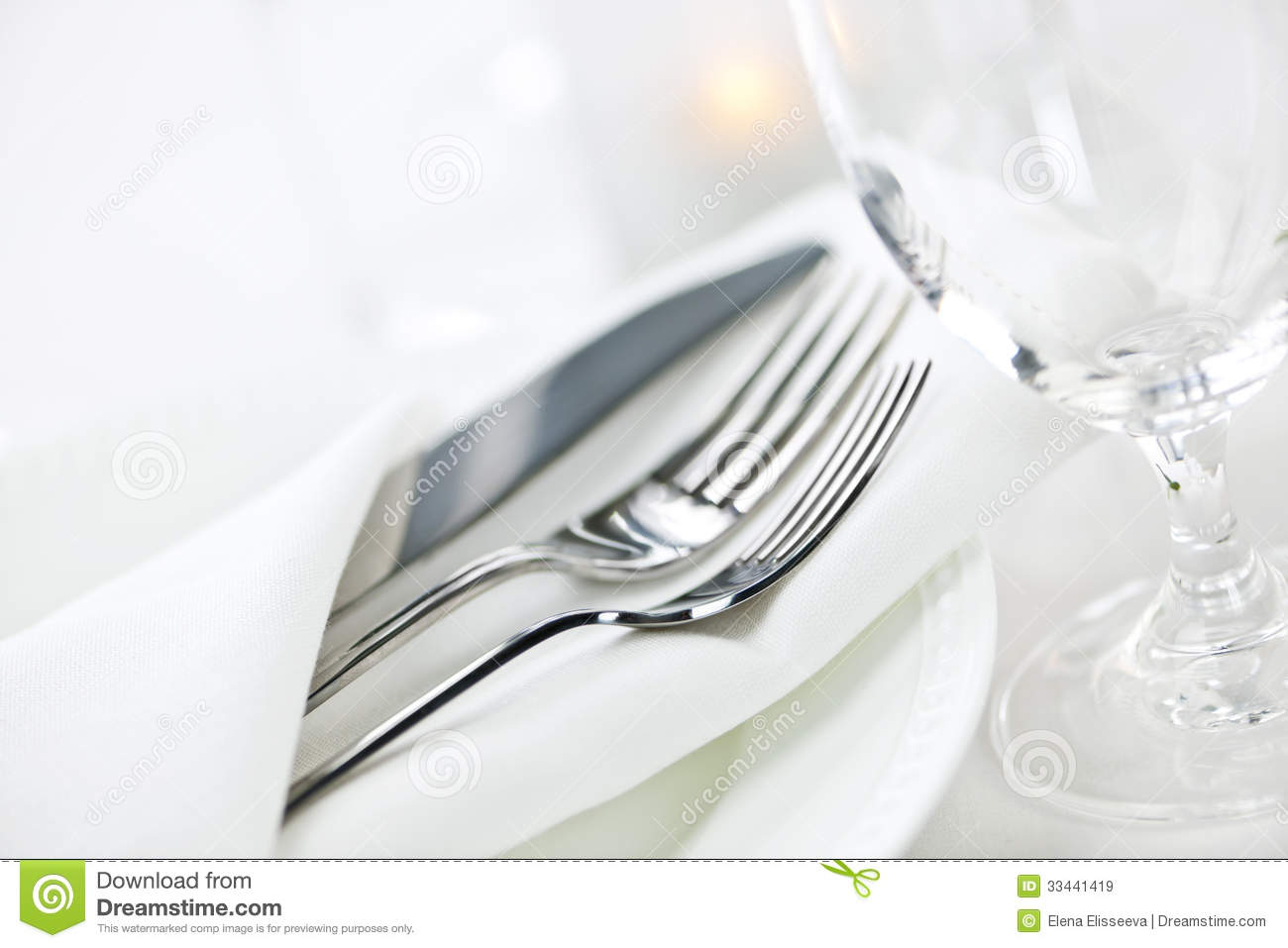 Table Setting For Fine Dining Royalty Free Stock Images Image 33441419