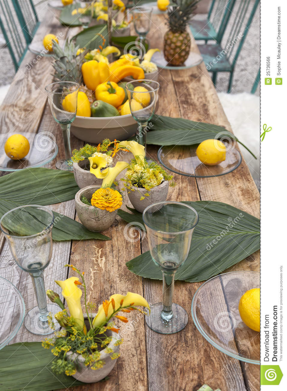 Table Setting For Garden Party Stock Photo Image Of