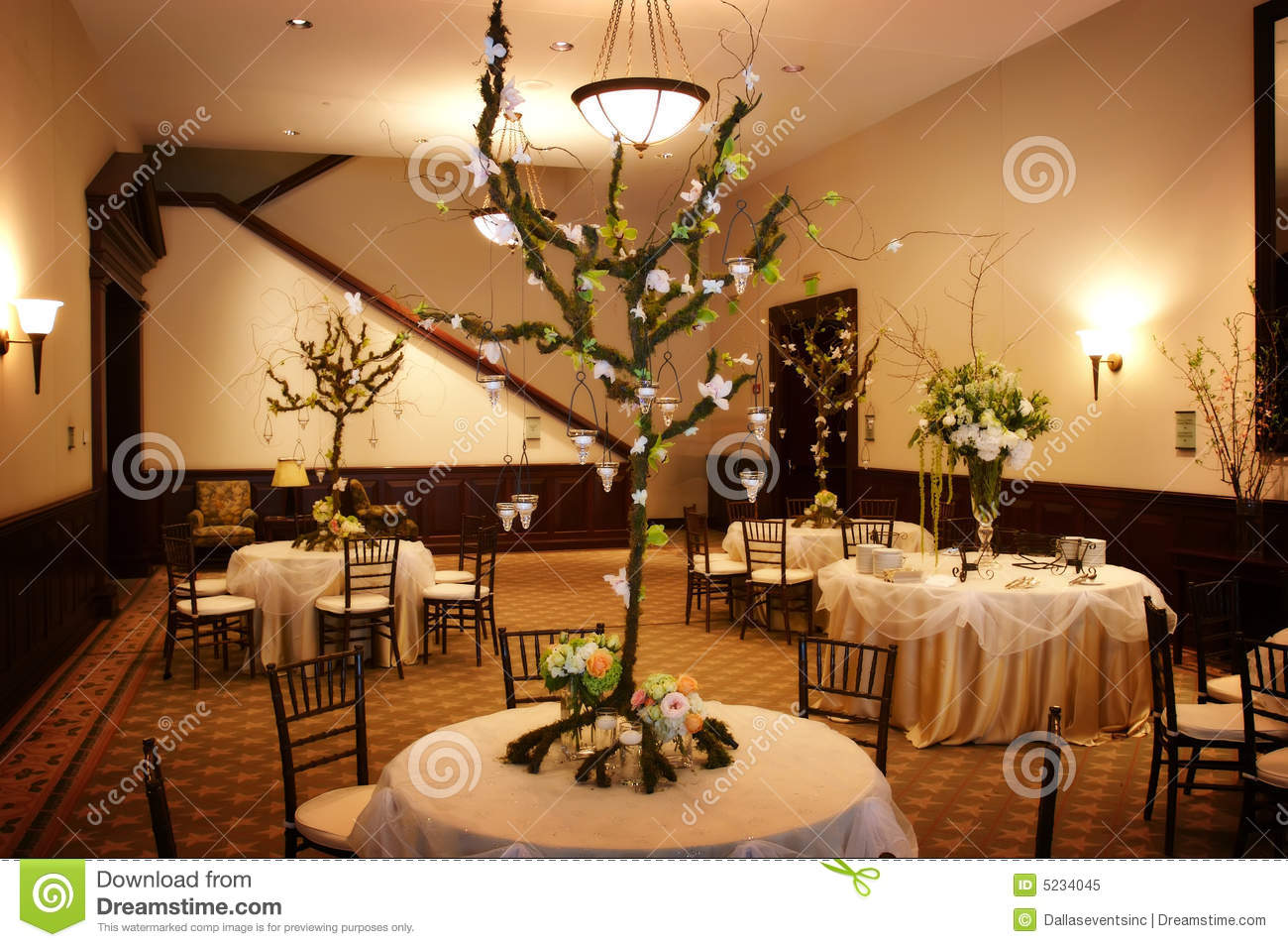 Table Setting At A Luxury Wedding Reception Royalty Free