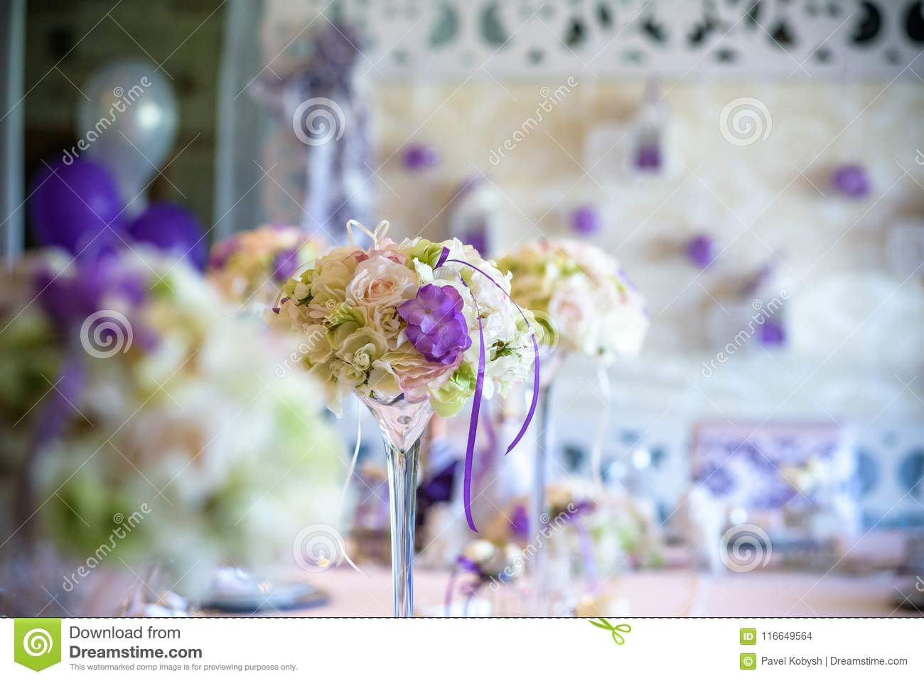 Download Table Setting At A Luxury Wedding Reception Stock Photo   Image Of  Banquet, Lunch