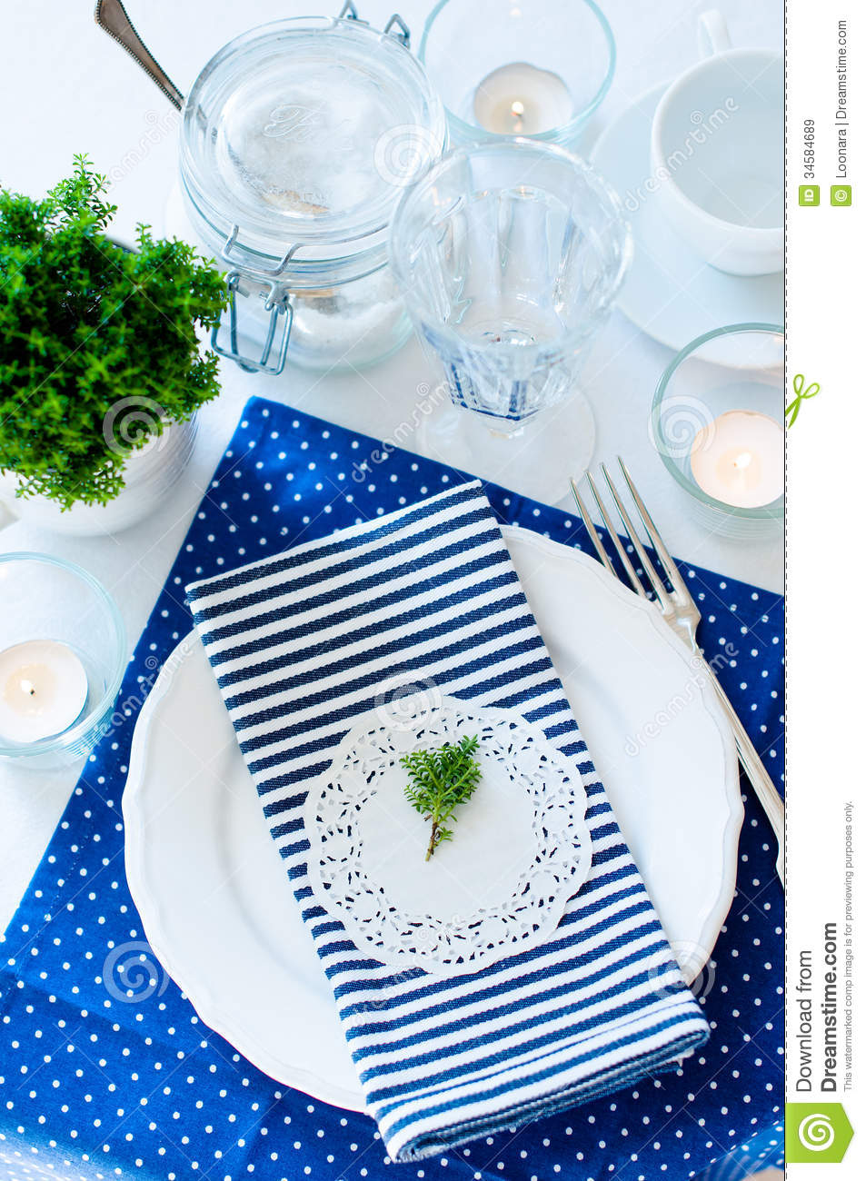 Background Blue Breakfast Navy Setting Table ...