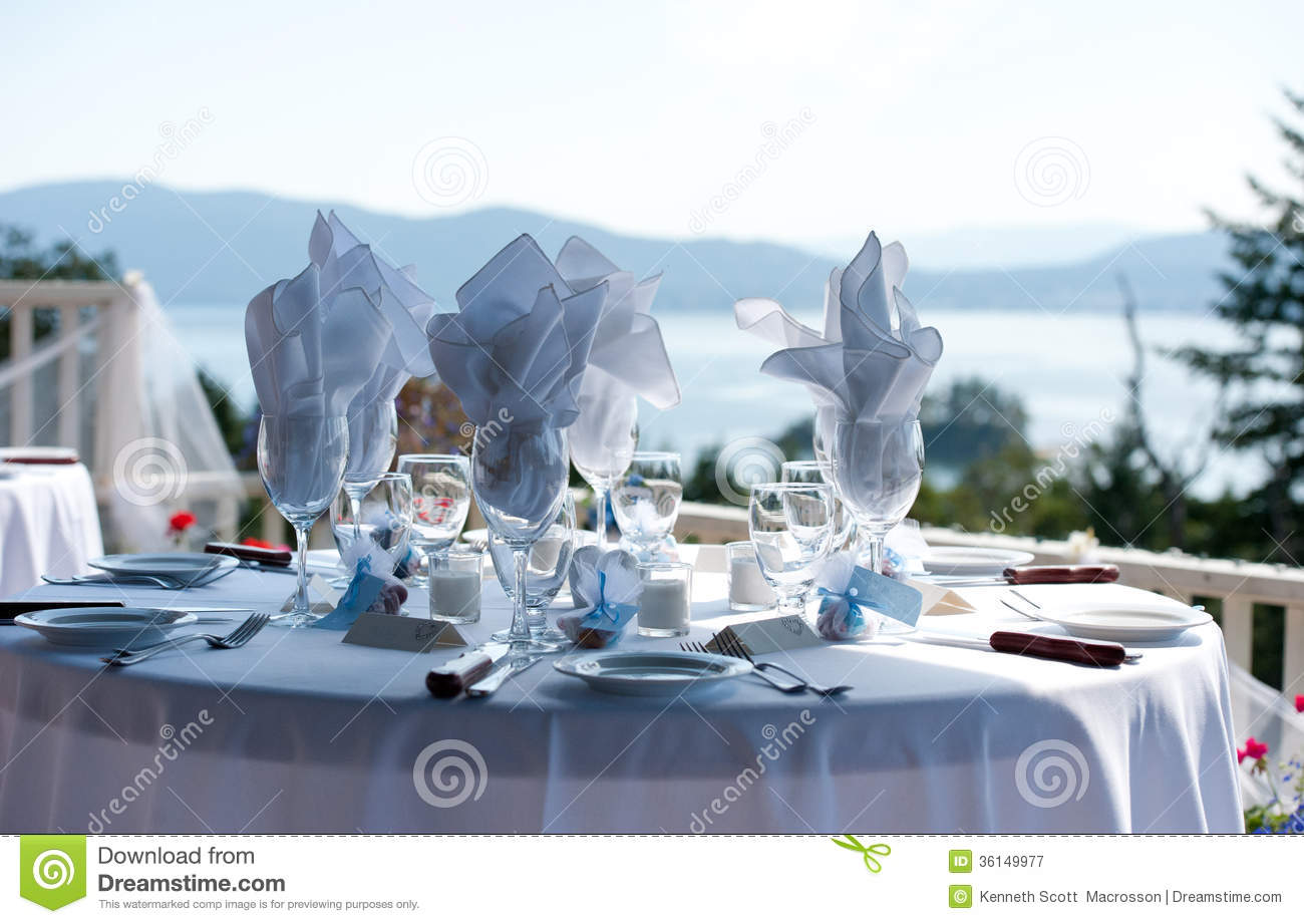 Table Setting Ocean Background Stock Image - Image of british ...