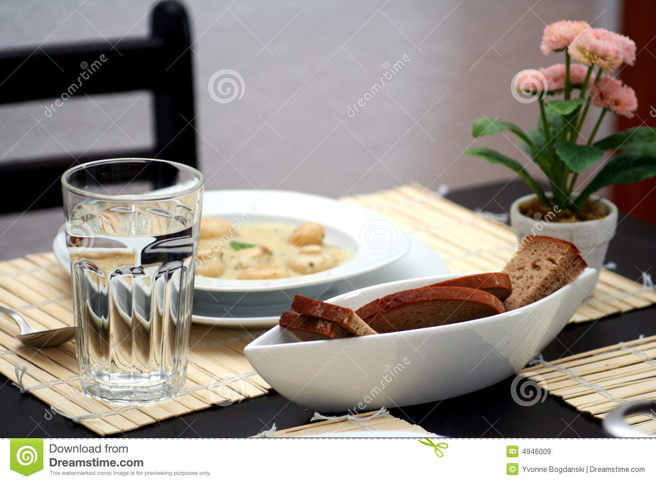 Table Setting For One Royalty Free Stock Images Image