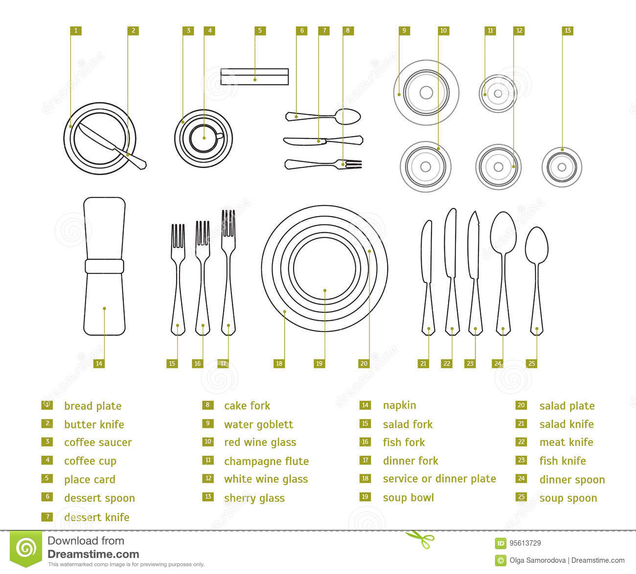 Table Setting Place Formal. Vector  sc 1 st  Dreamstime.com & Table Setting Place Formal. Vector Stock Vector - Illustration of ...